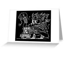 Rat Fink Style Monster & 1968 Camaro Greeting Card