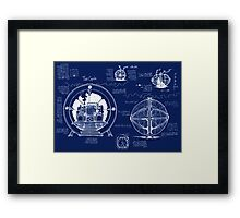 Time Machine Blueprints Framed Print