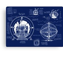 Time Machine Blueprints Canvas Print