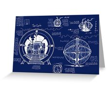 Time Machine Blueprints Greeting Card