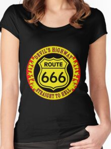 Route 666 Colour Women's Fitted Scoop T-Shirt