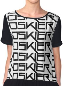 Oskier Logo (Black) Chiffon Top