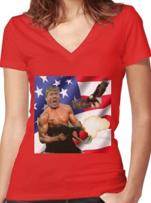 TRUMP'S 'MERICA.  Women's Fitted V-Neck T-Shirt