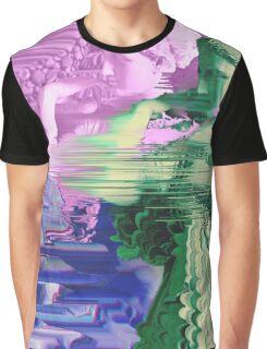 Vaporwave Glitch Graphic T-Shirt