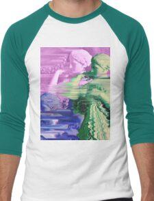 Vaporwave Glitch Men's Baseball ¾ T-Shirt