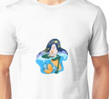 Reading mermaid Unisex T-Shirt