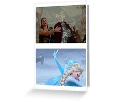 Elsa and Anna: Before and After Disney Greeting Card