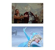 Elsa and Anna: Before and After Disney Photographic Print