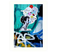 her universe pasted up  Art Print