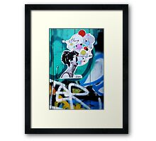 her universe pasted up  Framed Print