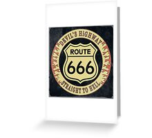 Route 666 Vintage Greeting Card