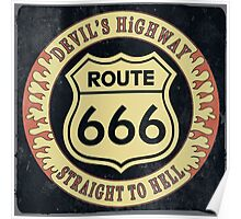 Route 666 Vintage Poster