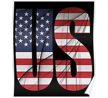 US - United States Flag Poster
