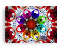 dance of the multi colored ladybugs Canvas Print
