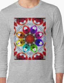 dance of the multi colored ladybugs Long Sleeve T-Shirt