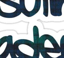 Ursuline Academy Plaid Sticker