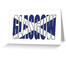 Glasgow. Greeting Card