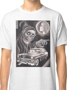 Original Watercolor Painting of Reaper with '56 Bel Air Classic T-Shirt