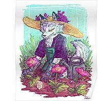 Arctic Fox Gardender Poster