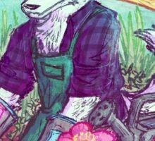 Arctic Fox Gardender Sticker