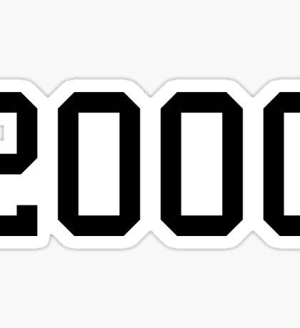 2000 Sticker