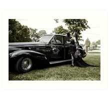 Classic Caddy And Cool Lace Boots Art Print