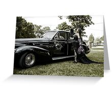 Classic Caddy And Cool Lace Boots Greeting Card