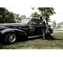 Classic Caddy And Cool Lace Boots Photographic Print