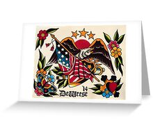 Original Watercolor Tattoo Flash Painting Greeting Card