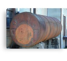 Old Industrial Tank Canvas Print