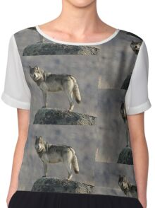 The Wolf's Appraisal Chiffon Top