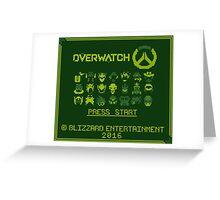 Retro Overwatch Game Boy Greeting Card