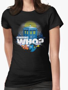 Finding Who? Womens Fitted T-Shirt