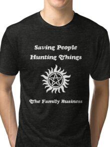 Supernatural - Saving People Hunting Things Tri-blend T-Shirt