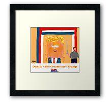 Trump the Creamsicle by Roger Pickar, Goofy America Framed Print