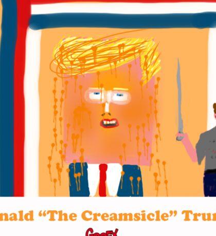 Trump the Creamsicle by Roger Pickar, Goofy America Sticker