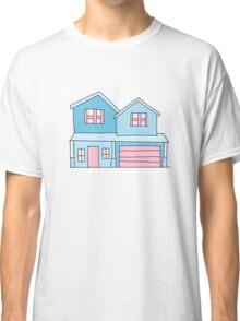 cute blue suburban house Classic T-Shirt