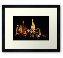 Beautiful Church Night Photo Framed Print
