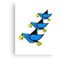 Vogel fliegen witzig formation  Canvas Print