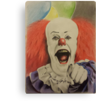 """pennywise the clown """"IT"""" Canvas Print"""