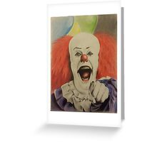 """pennywise the clown """"IT"""" Greeting Card"""