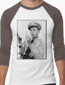 Gun Crazy Barney Men's Baseball ¾ T-Shirt