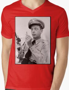 Gun Crazy Barney Mens V-Neck T-Shirt