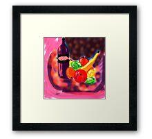 Night Still Life by Roger Pickar, Goofy America Framed Print