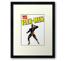 Flex-Men  Framed Print