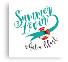 Summer Lovin' design Canvas Print