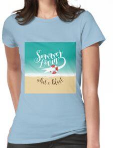 Summer Lovin' design Womens Fitted T-Shirt