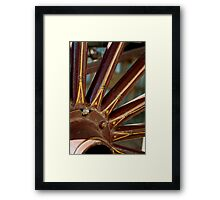 old horse cart wagon wheel Framed Print