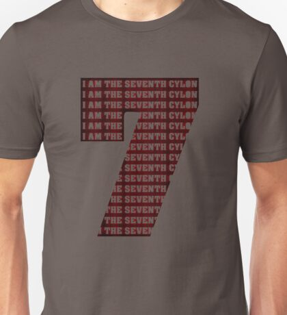 The Seventh Cylon (Now Angry Cylon Red!) Unisex T-Shirt