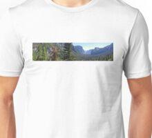 Panoramic view of Yosemite Unisex T-Shirt